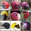 专业生产各种款:广告头盔,防盗器,广告雨衣、广告车行锁具等
